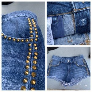 GUESS shorts with studs